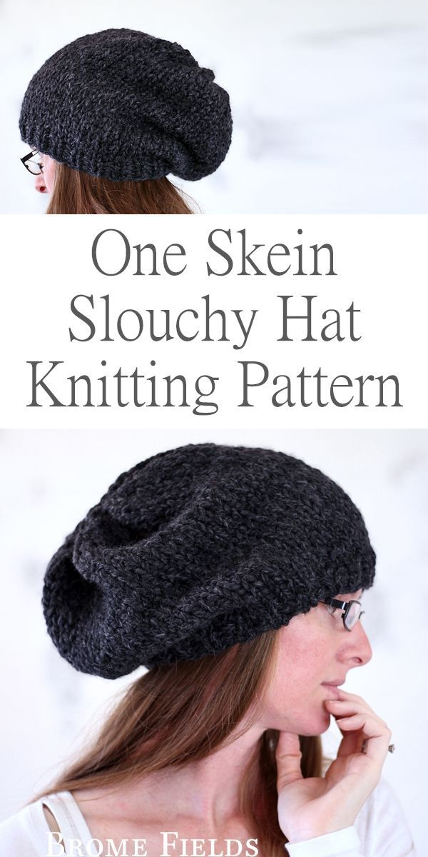 One Skein Hat Knitting Pattern : Focus by Brome Fields | Dos agujas ...