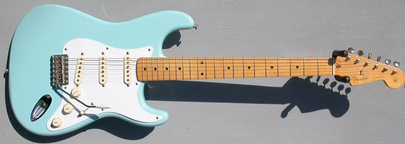 2000 fender stratocaster 50 s ri mim daphne blue with maple