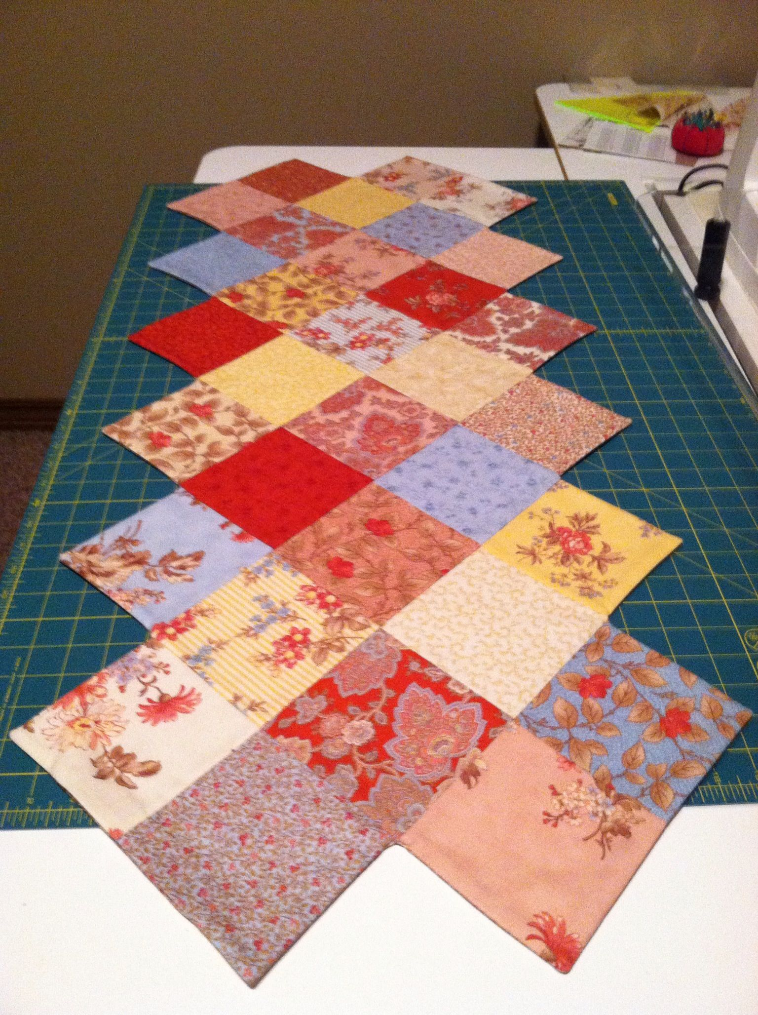 Zig Zag Table Runner Pattern By Mo Star Quilt Quilting