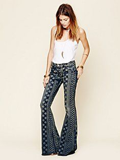 if I were taller, I could wear insane flares like these--enter wedges.