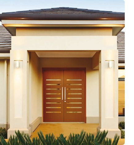 double entrance doors for good access small glass windows like these for security how - Entrance Doors Designs