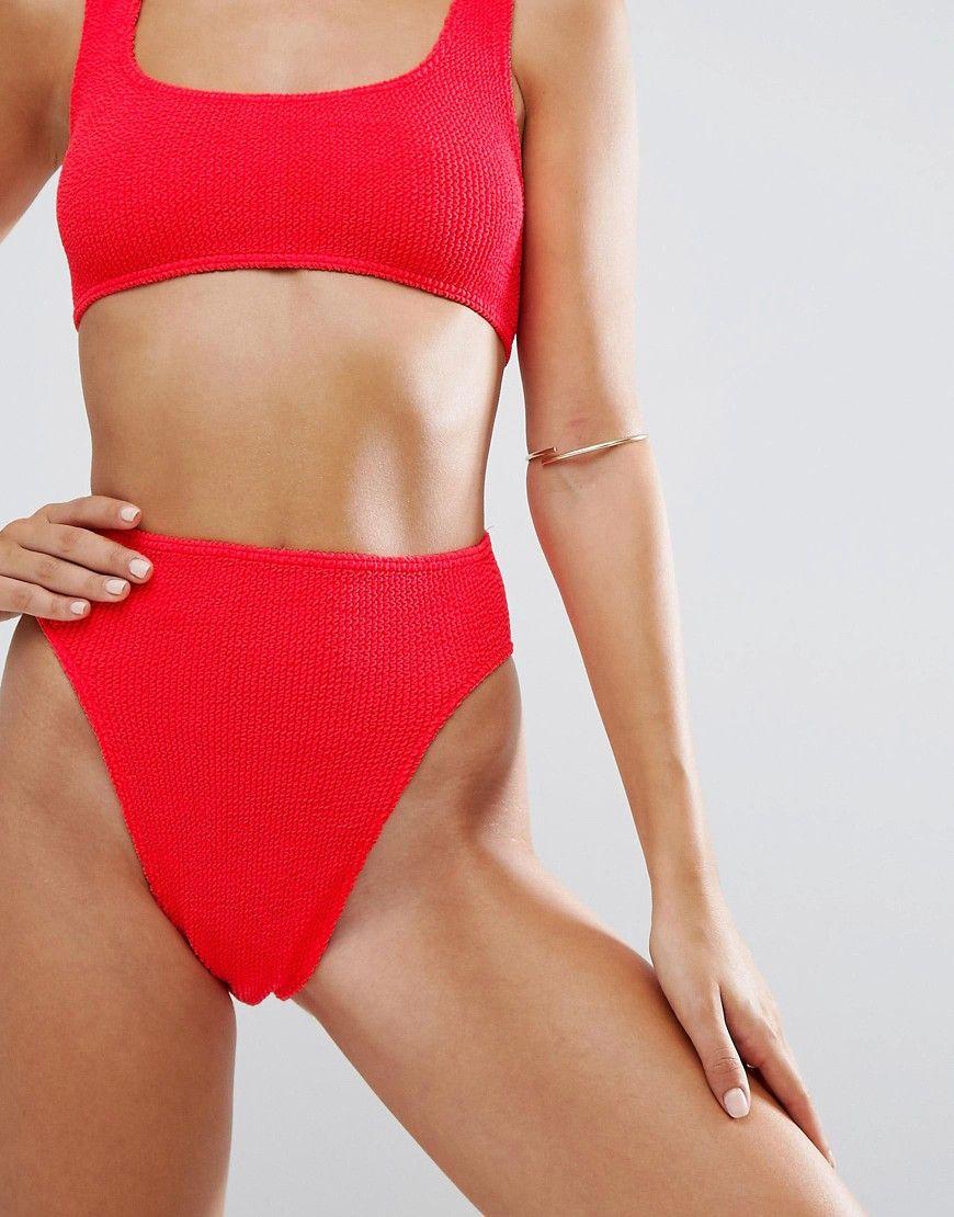 9525e595c207 Cómpralo ya!. Braguitas de bikini de pernera alta y diseño de tiro ...