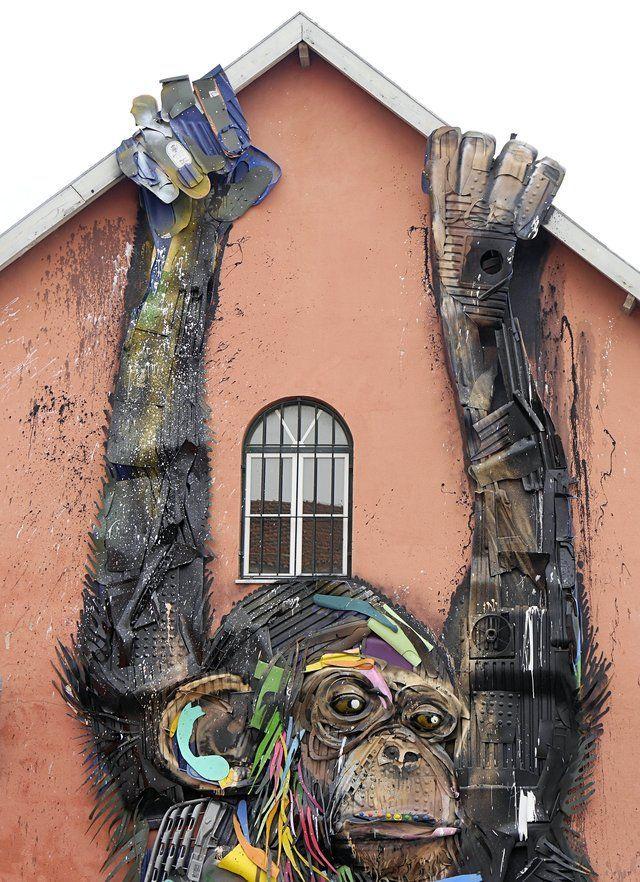 Bordalo Ii Rua De Xabregas Lisboa 1 Art Pinterest