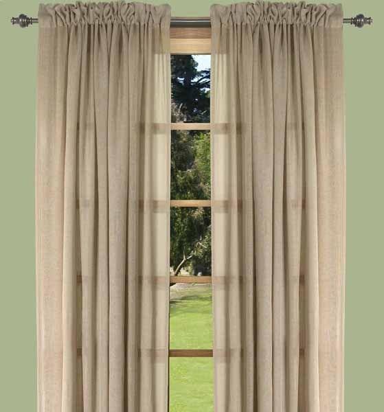 Lucerne Textured Sheer Curtains Kitchen Window Treatments