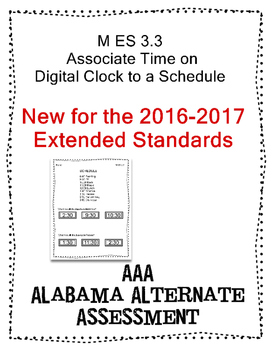 This is a six page packet that I designed to help to teach and assess the NEW 2016/2017 Alabama Alternate Assessment standard M ES 3.3. Each page has 2 problems, so there are a total of 12 problems. I plan to update this product if the state department makes new complexity levels.