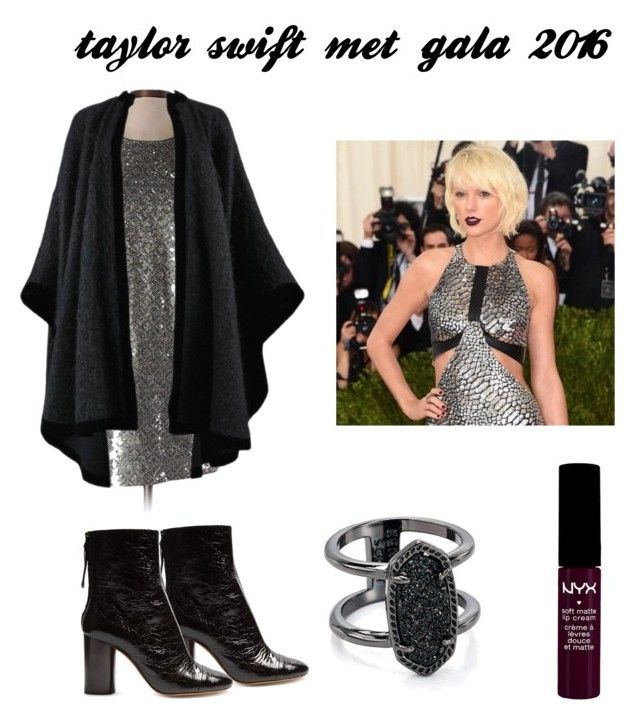 """taylor swift met gala 2016"" by cmfan130mw on Polyvore featuring Banana Republic, Yves Saint Laurent, Isabel Marant, Kendra Scott and NYX"