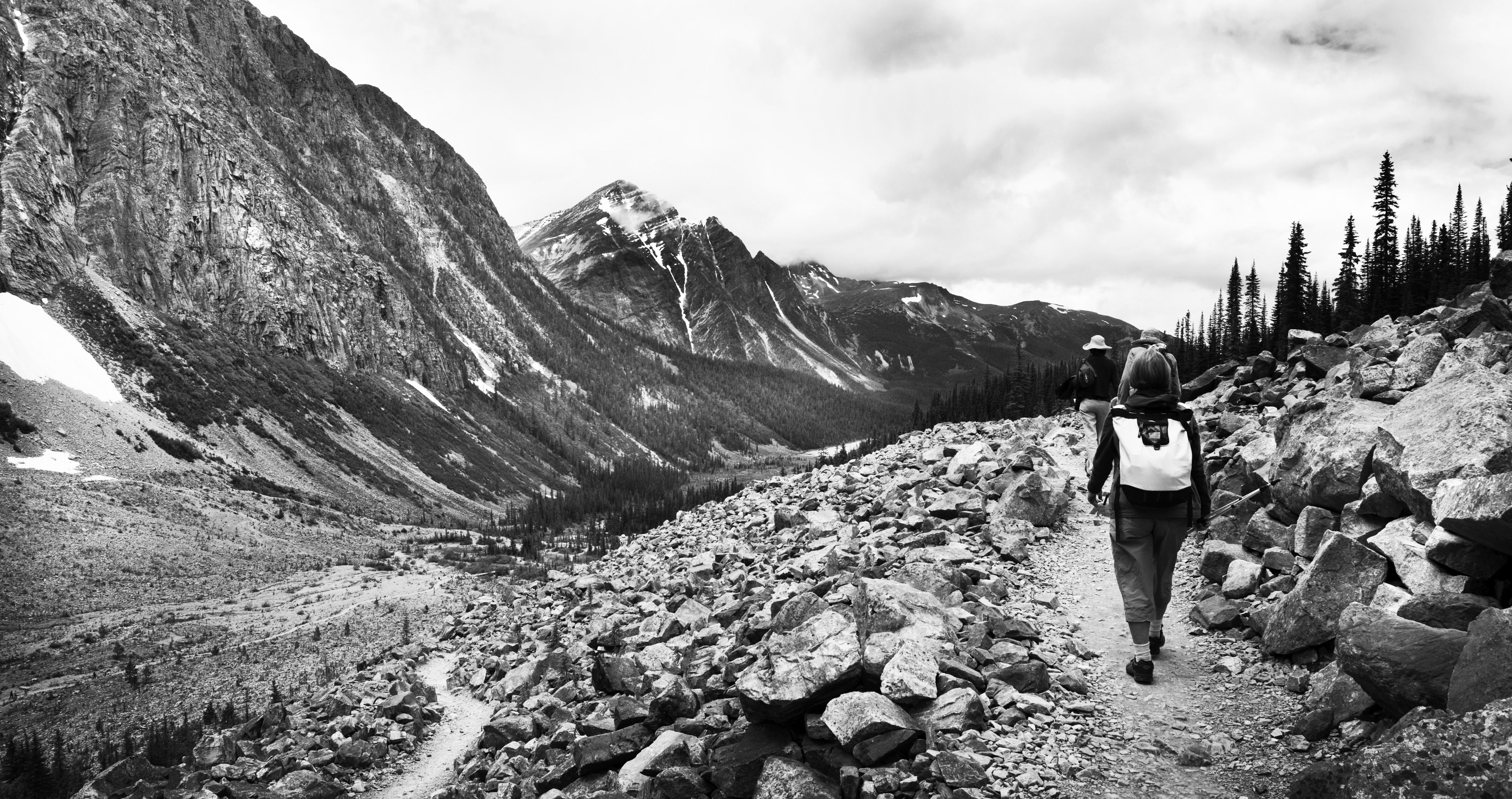 Canadian Rockies-Cavelle Hiking BW #travel