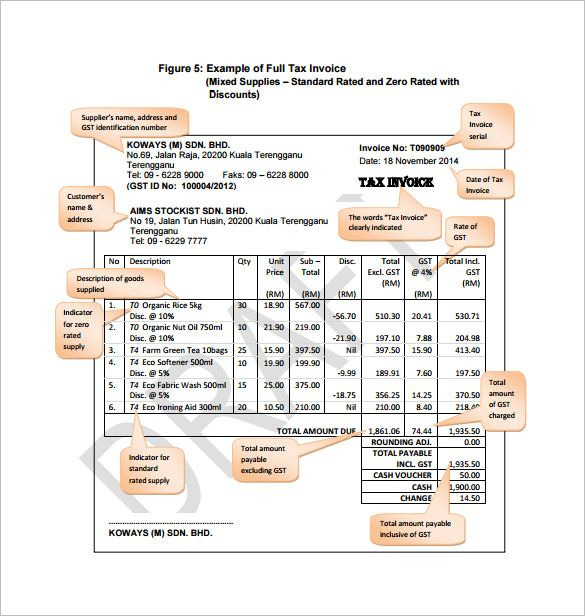 Sample Tax Dedication Invoice Template ABC Company , Invoice - free tax invoice