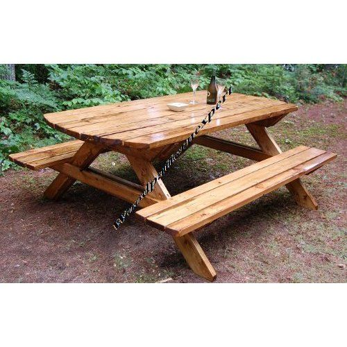 40 Outdoor Woodworking Projects For Beginners: Build Your Own Wood PICNIC TABLE Family Size Park Style
