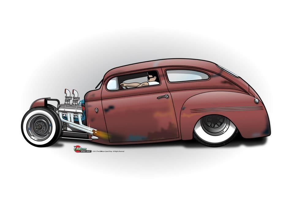2 The Cartoon Speed Shop Cool Car Drawings Truck Art Car Cartoon