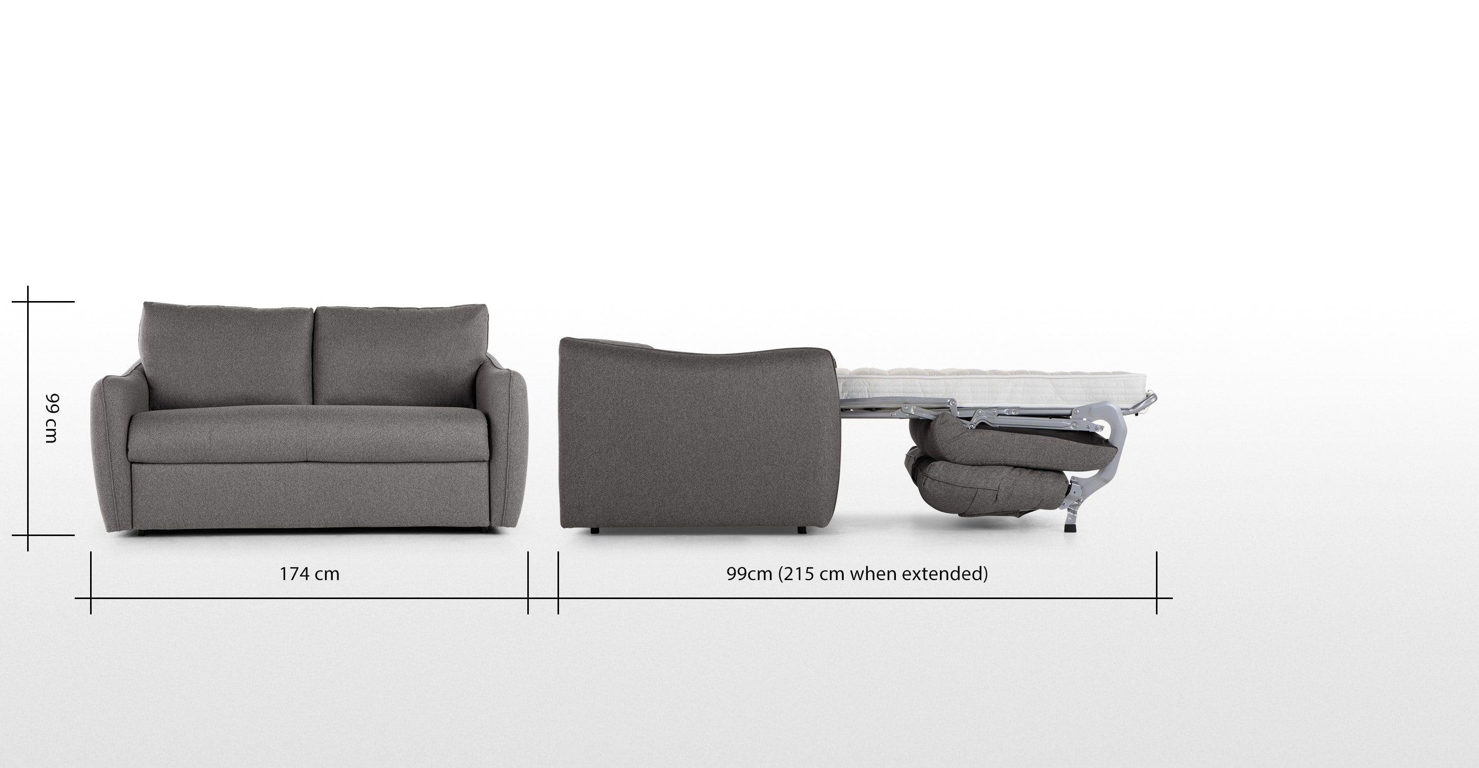 Jefferson Sofa Bed Tweed Grey Made