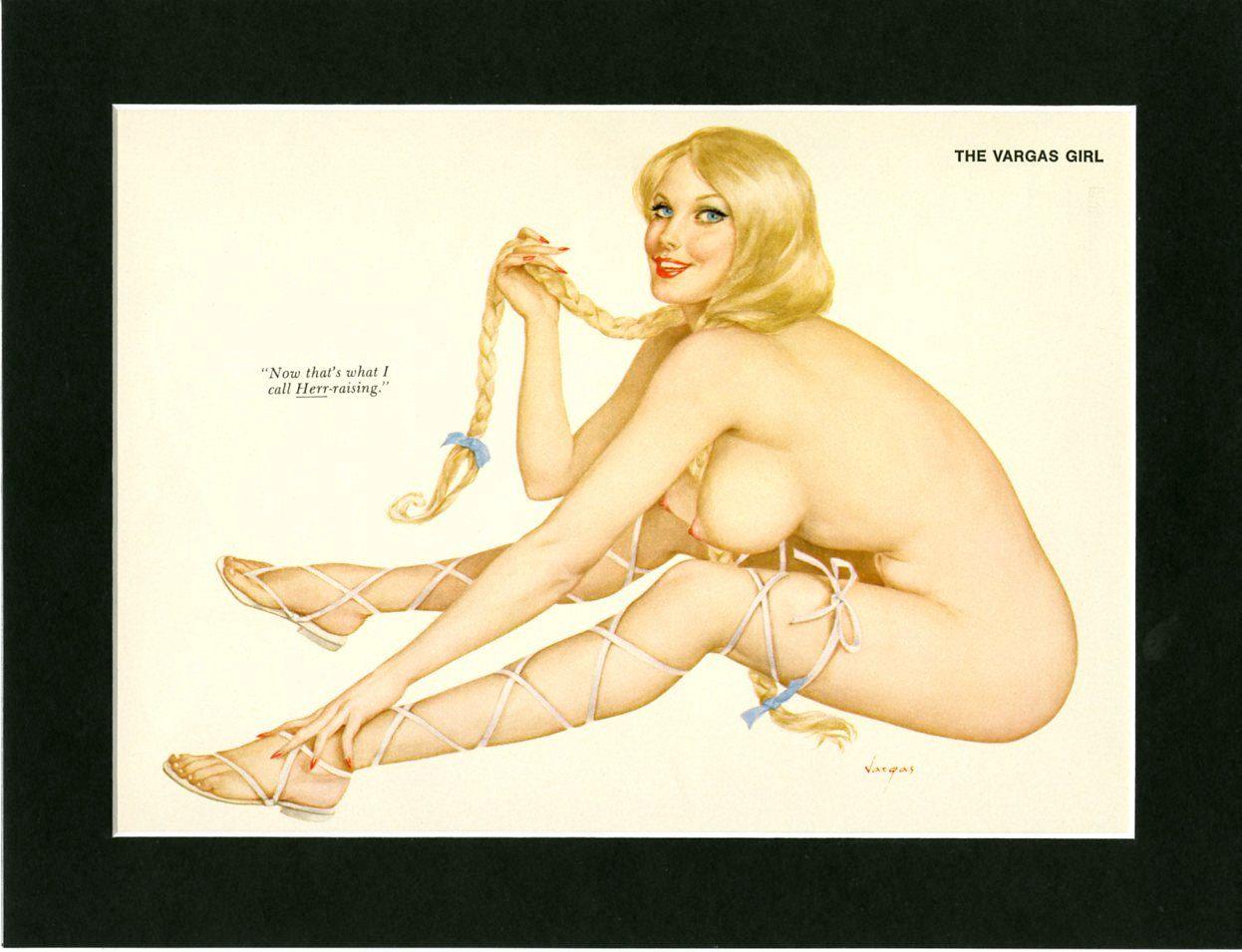 Vargas Girl Pin-Up April 1972 ~ Vintage Playboy Mature Print ~ Magazine Illustration ~ Nude Pinup Girl ~ Magazine Art ~ Paper Ephemera by VintageAdWorld on Etsy