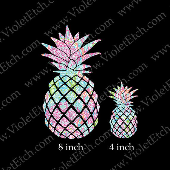 Pineapple Decal Yeti Cup Decal Window Decal Patterned