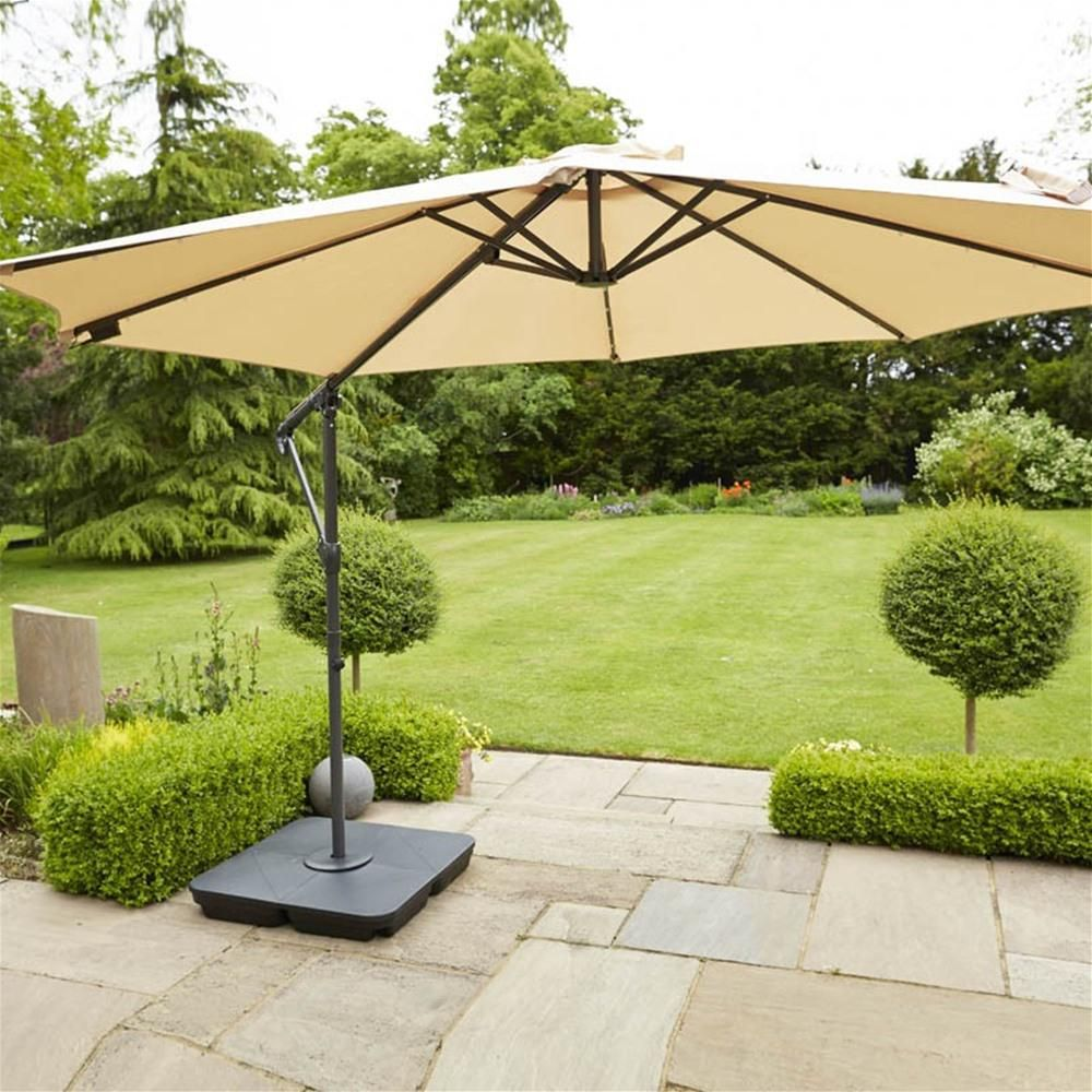 Leisuregrow Orchid 3.0m Easy Up Cantilever Parasol