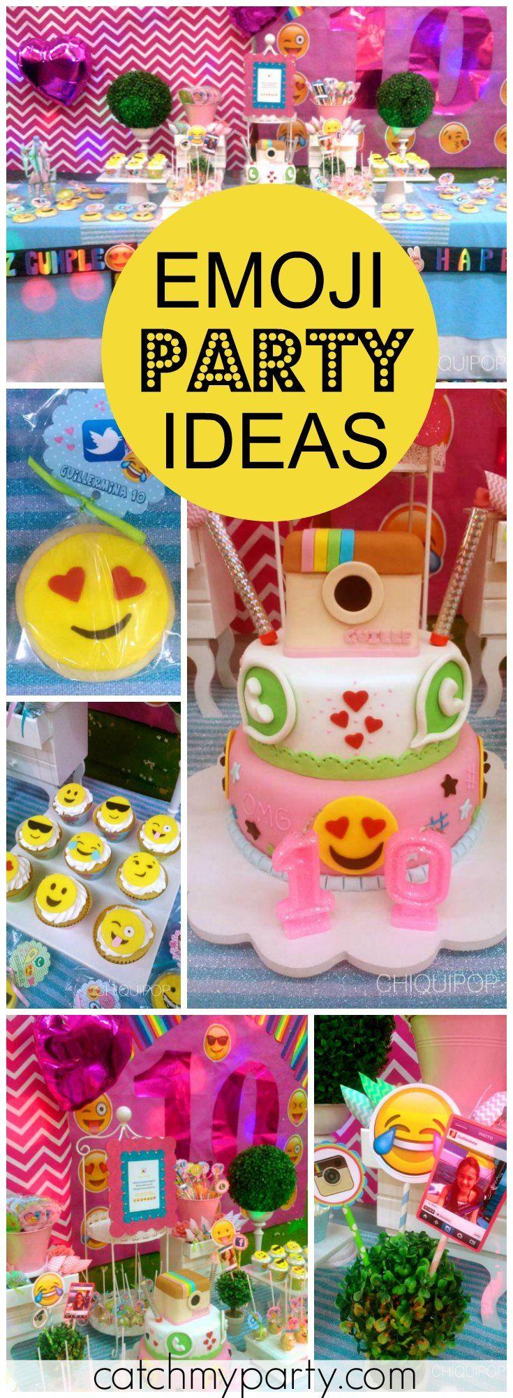 insta face emoji birthday a fun holiday for guillermina s 10th