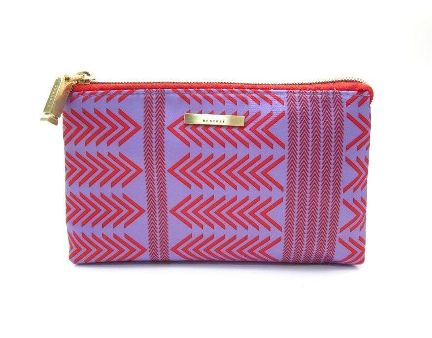 Kestrel Bags Purse Kit Cosmetic Bag Makeup Case Lavender Red New Kestrelbags