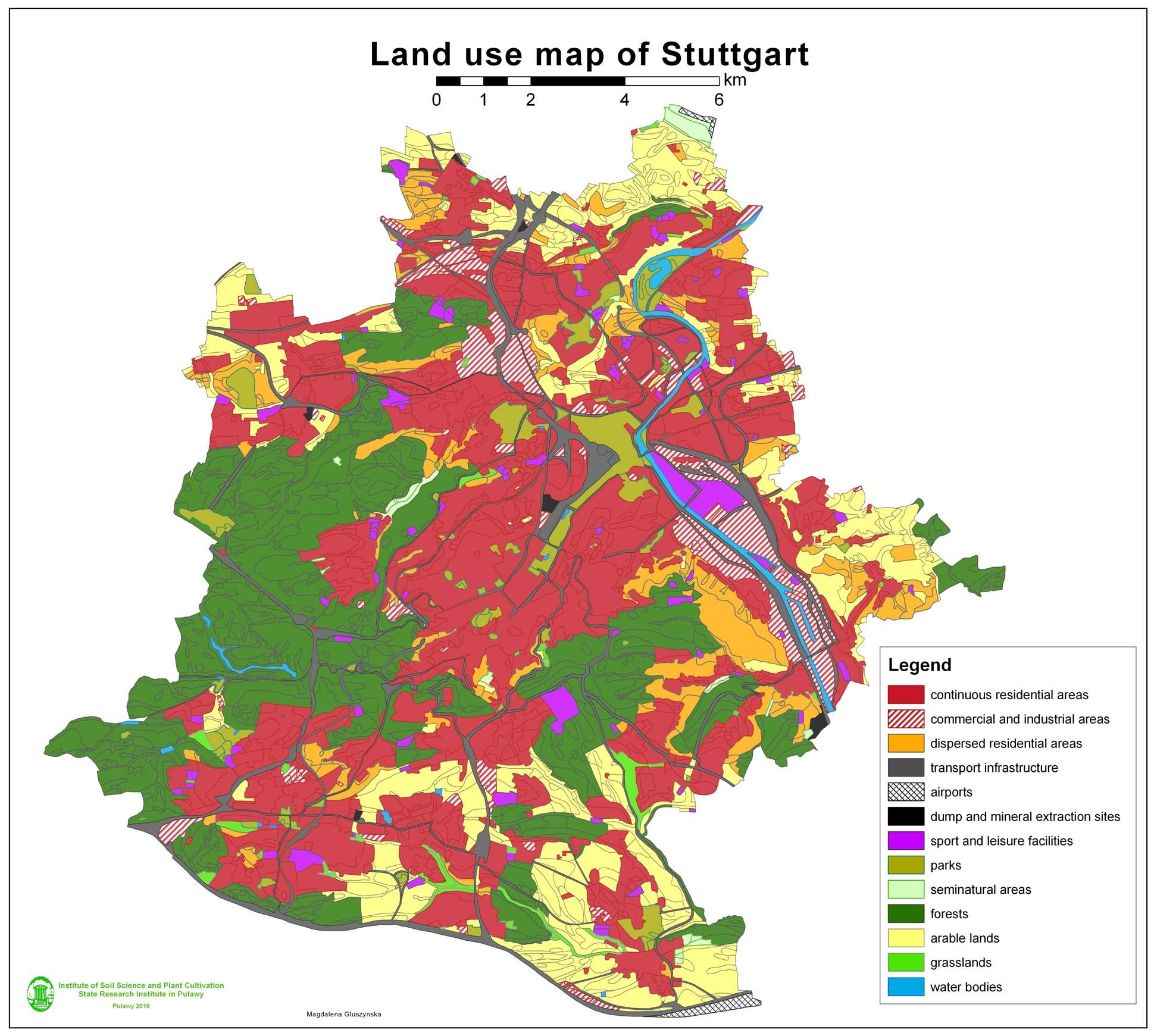 Germany This Is A Land Use Map Of Germany The Land Is Used - Germany map lands