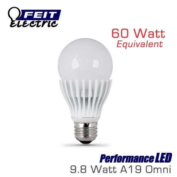 Feit Performanceled 9 8 Watt A19 Omni Directional Dimmable 60 Watt Replacement Led Light Bulbs Light Bulb Led