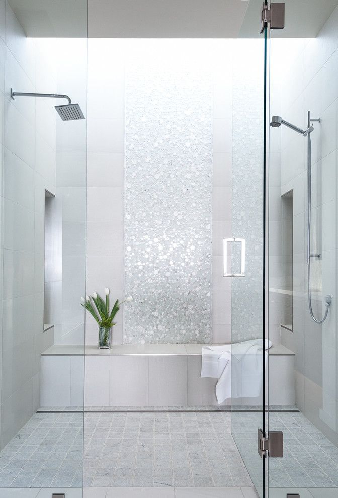 Magnificent Emser Tile In Bathroom Transitional With Small Bathroom Shower  Ideas Next To Double Shower Alongside
