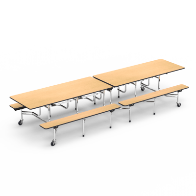 Virco Cafeteria Dining Room Solutions Mt Series Mobile Bench Table 144 X 30 Top Seats 12 16 Bench Table Classroom Chairs School Furniture