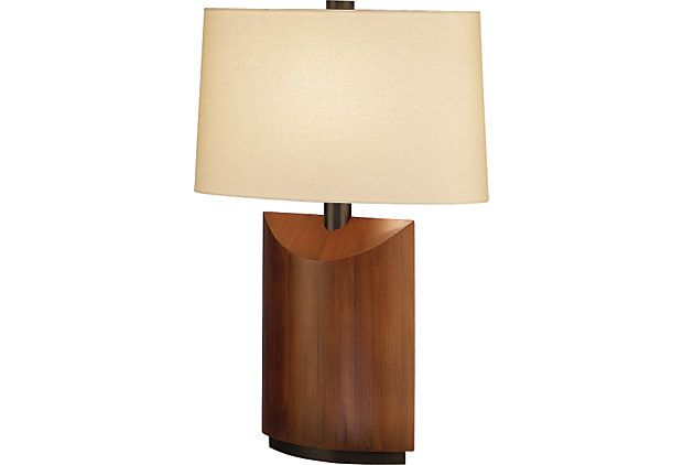 Wonton table lamp cherry wood on onekingslane lamps pinterest wonton table lamp cherry wood on onekingslane aloadofball Images