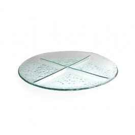 Crystal Clear H2O 4 Round Section Server #JayCompanies #HomeDecor #HomeAccents #serverware