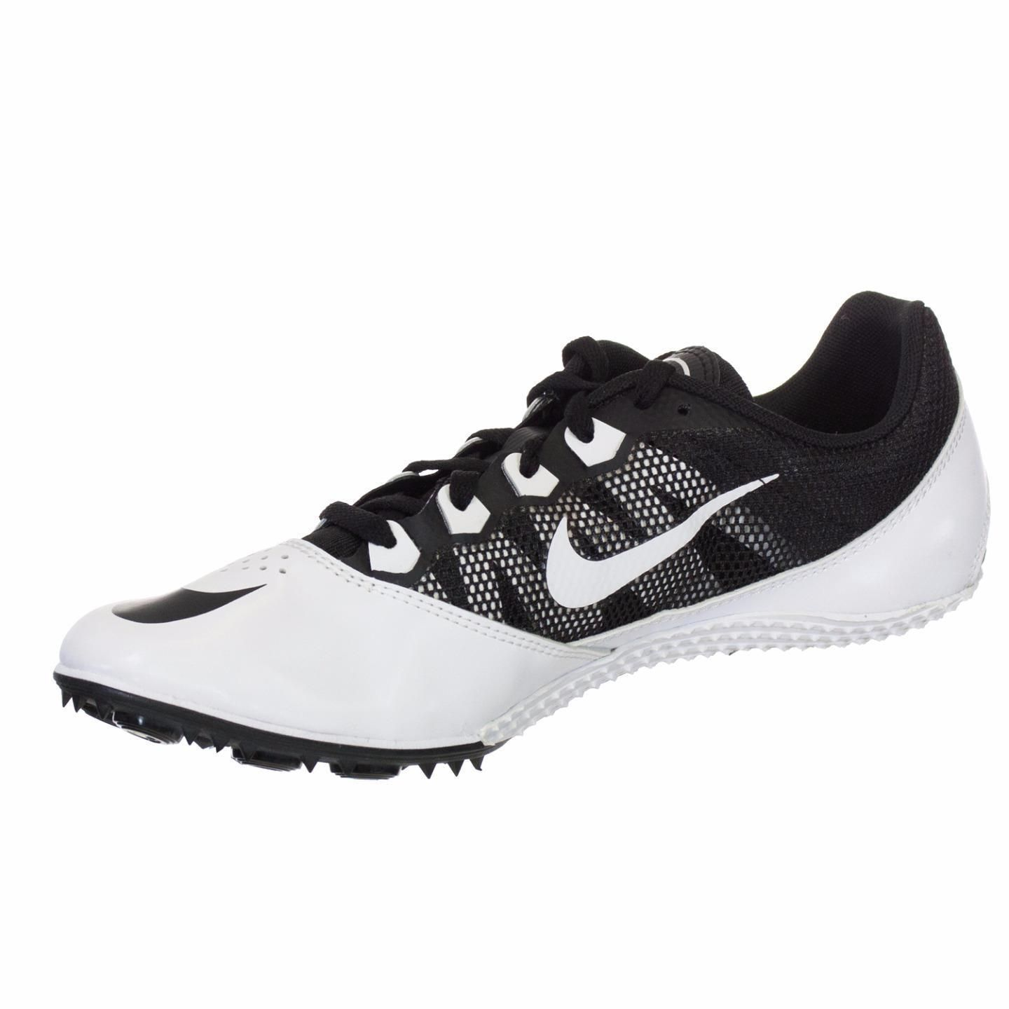 f8bb31ef1ae Nike Unisex Zoom Rival S7 Black and White Spiked Track Shoe (S7 ...
