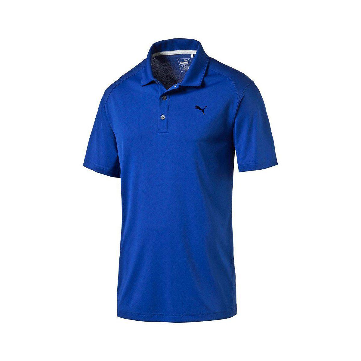 Puma Golf Men's Surf the Web Blue Essential Pounce Golf Polo