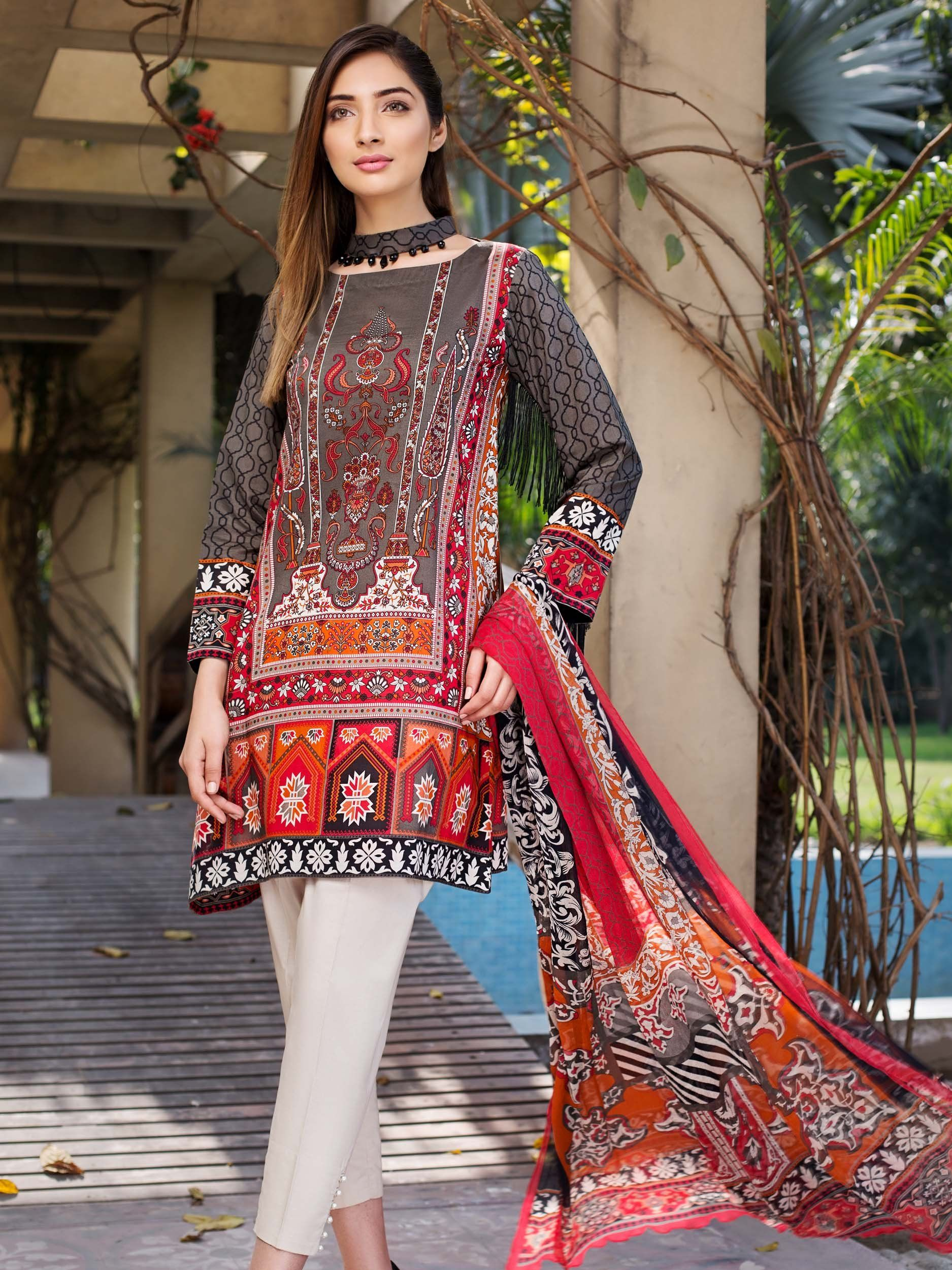 d192749a7a elegant grey lawn 3 piece pret dress by Limelight printed collection  vol.2at a very reasonable price#springcollection #spring #readytowear  #pretwear ...