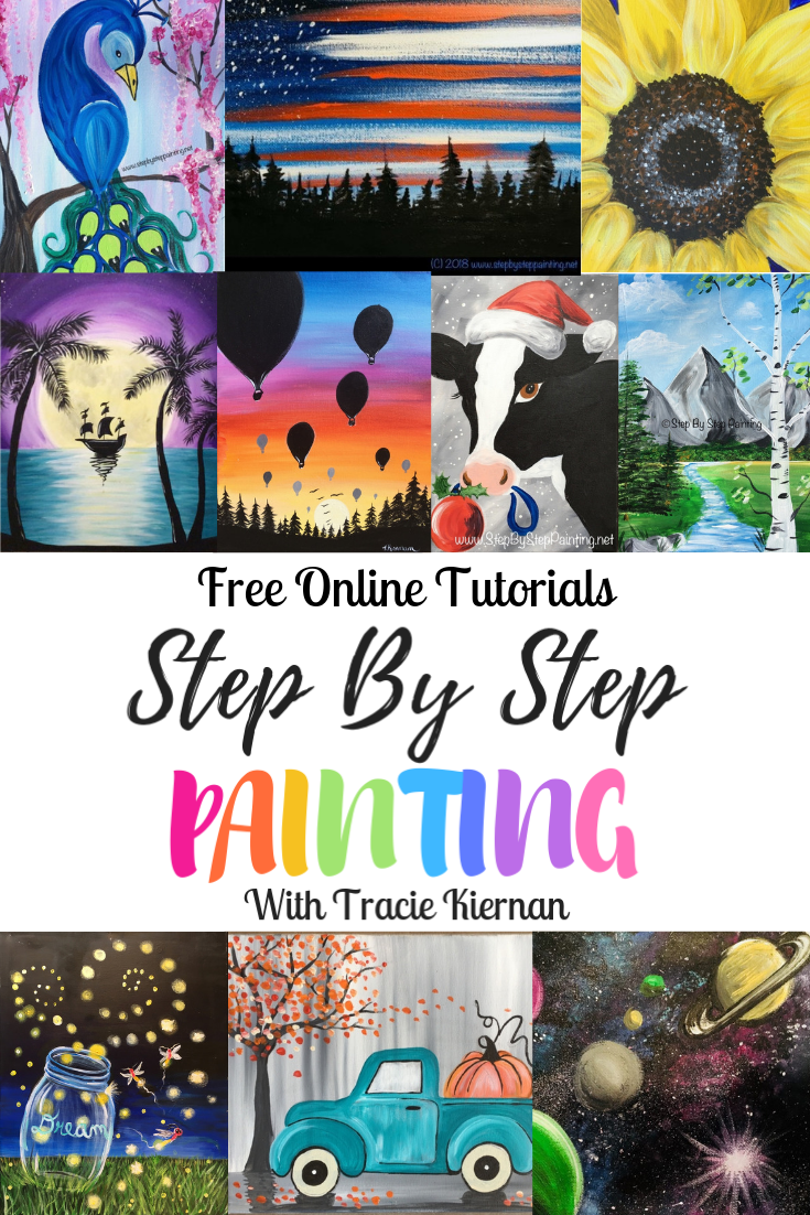 Step By Step Painting - Canvas Acrylic Painting For The Absolute Beginner!