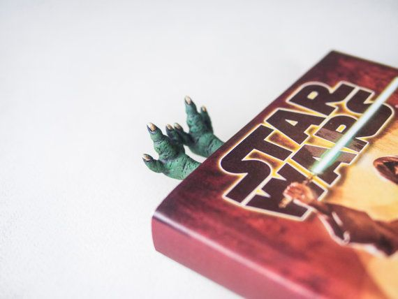 SALE! Master Yoda bookmark. For fans of Star wars. Crazy feet bookmark. legs in book. Jedi in the book
