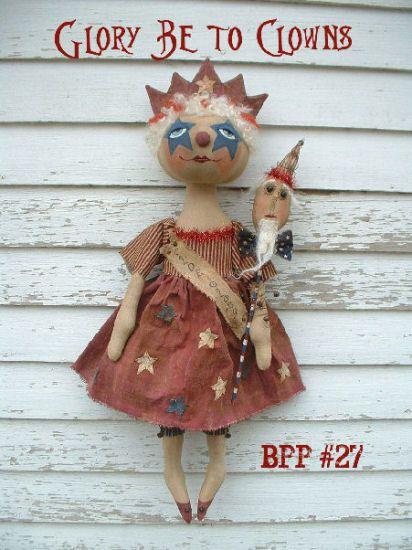 Primitive Raggedy Ann style Carlie and Freida PAPER PATTERN #129
