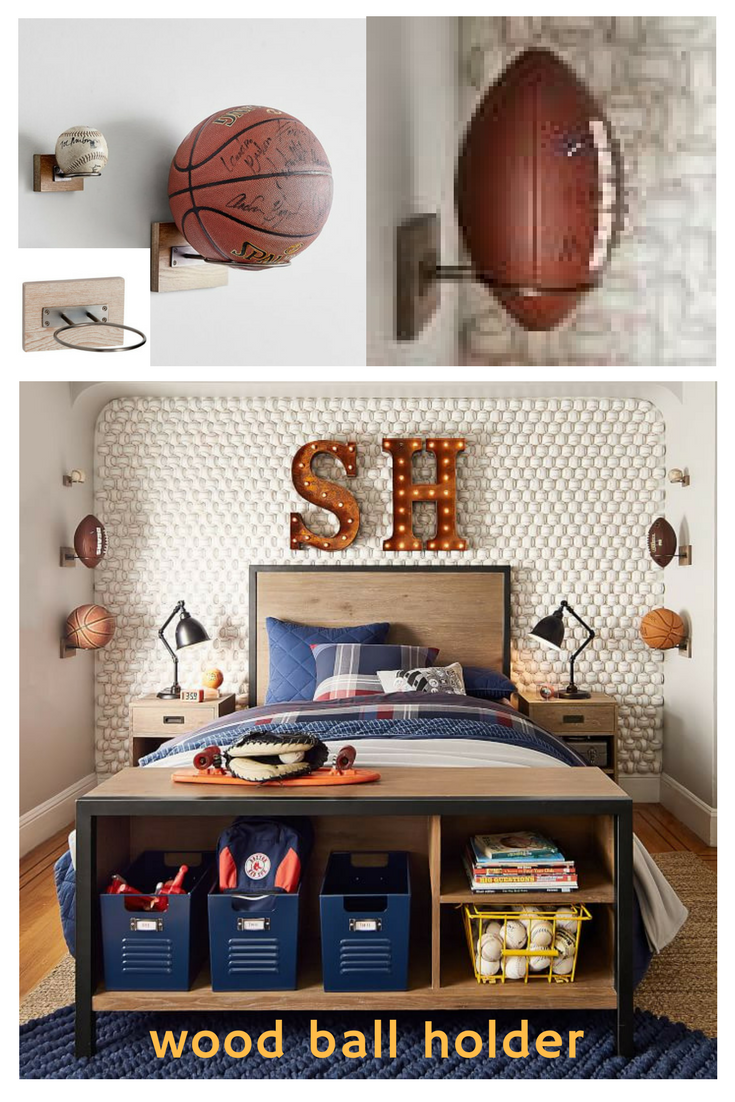 Youth Group Room Paint Ideas: Super Cute Boy Room. Wood Ball Holder.