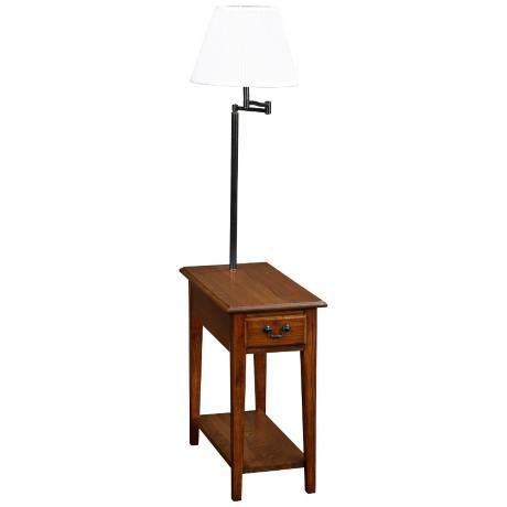 Leick Furniture Medium Oak Chairside Lamp Table X8312