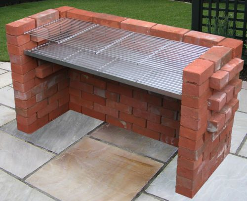 Extra Large 100 Stainless Steel Heavy Duty Diy Brick Charcoal Bbq Kit 1120mm