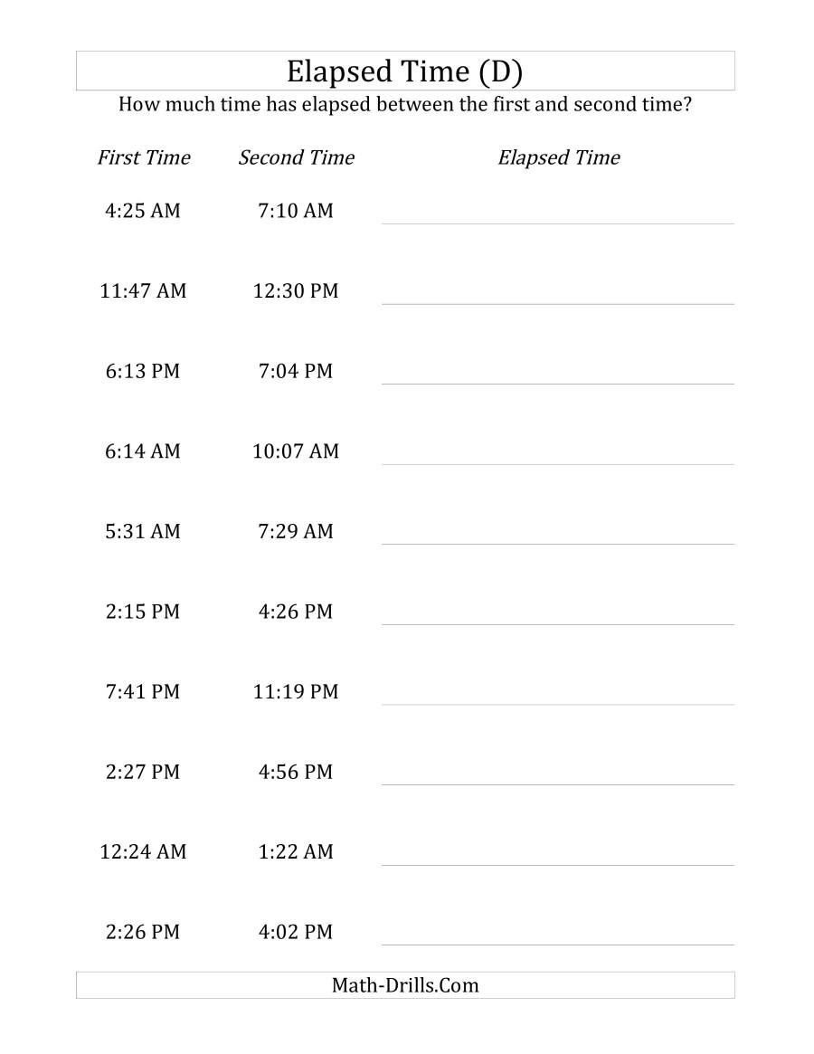 The Elapsed Time Up To 5 Hours In 1 Minute Intervals D Math Worksheet Elapsed Time Worksheets Elapsed Time Time Worksheets [ 1165 x 900 Pixel ]