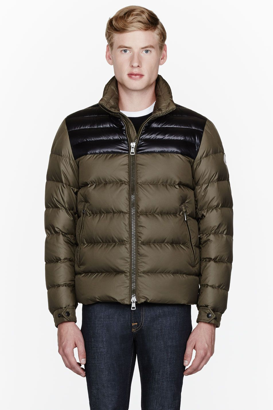 moncler olive jacket