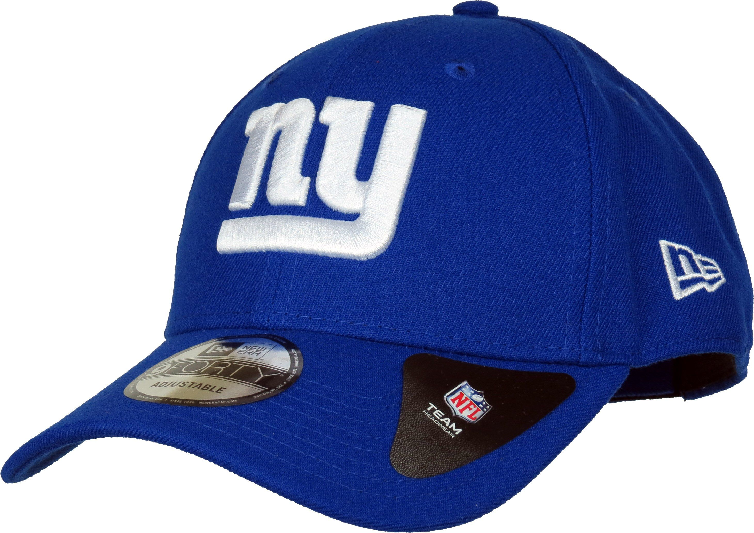 a49260fdf84 New Era 9Forty NFL The League Adjustable Team Cap. Blue with the New York  Giants