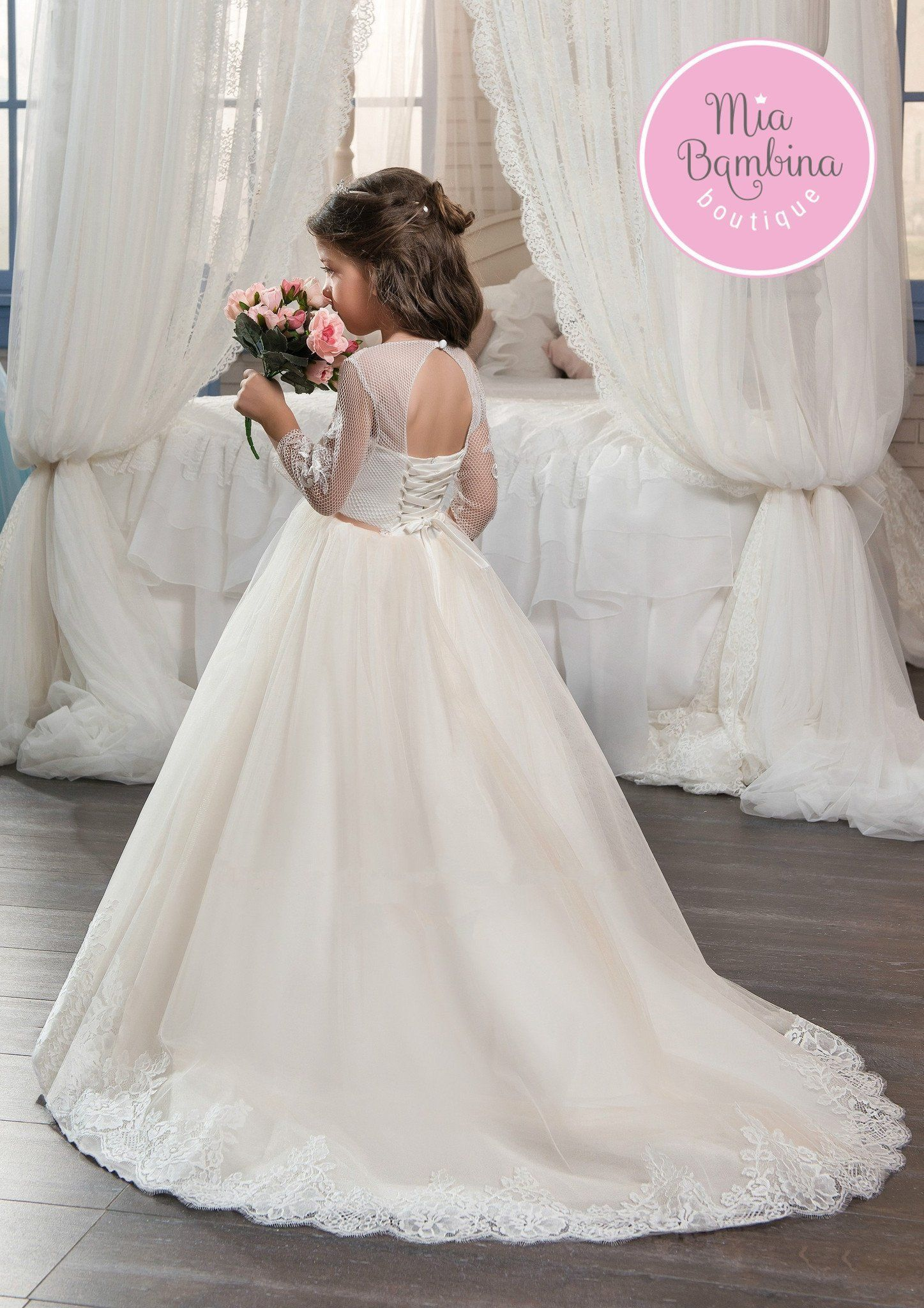 The Pittsburgh flower girl dress is designed to make her a star of