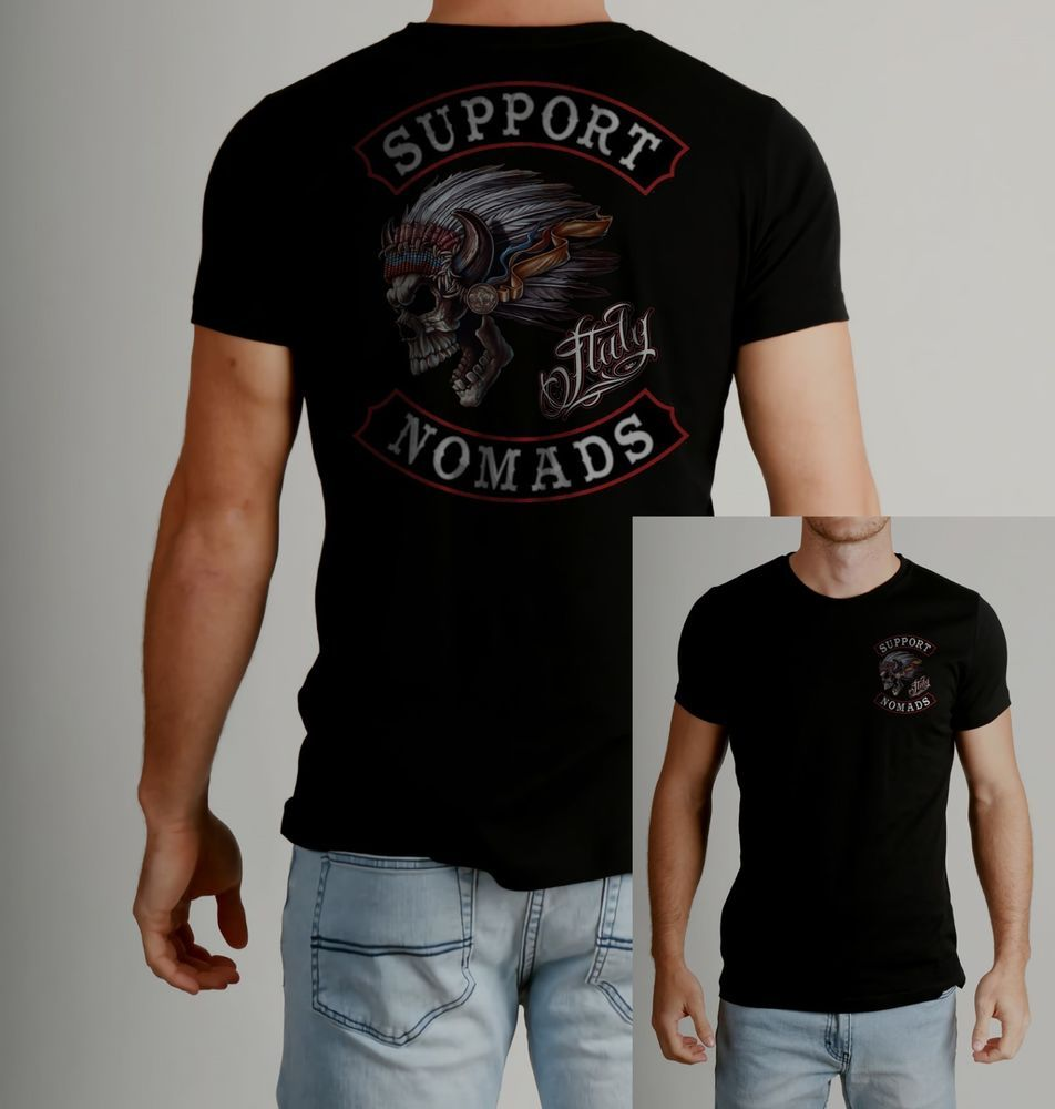 New Support 81 Italy Nomads T-shirt Support Hells Angels T