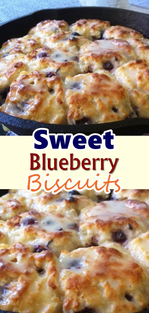 Sweet Blueberry Biscuits #buttermilkblueberrybreakfastcake