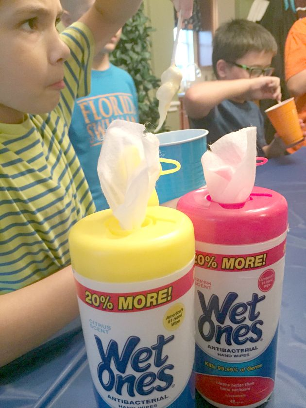 Keep kids hands clean during all your summer activities like parties & science experiments with Wet Ones® Hand Wipes  http://freebies4mom.com/wetones/ #ad