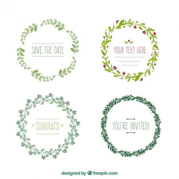 Collection Couronne De Fleurs Invitations More Floral Wreath