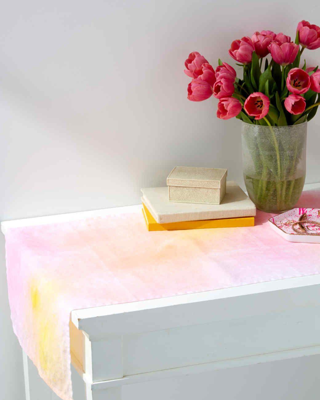 Watercolor Table Runner