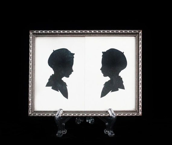 Antique Silhouette Picture Frame by ohiopicker on Etsy