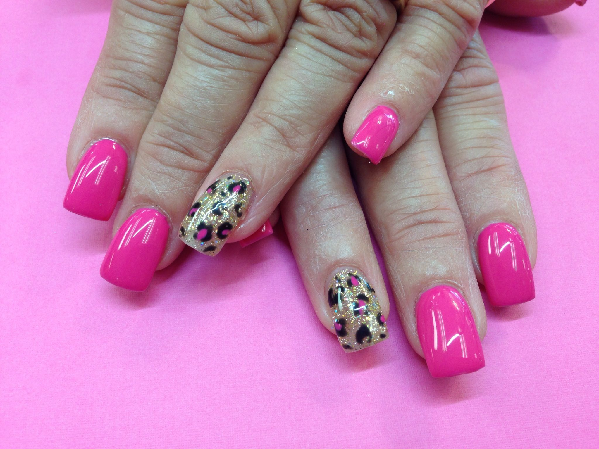 Luxio Gel Color in Devine/animal print | Nails by Sheri/Sculpture ...