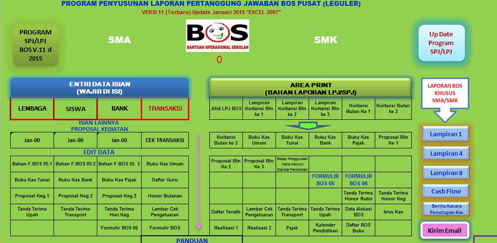 Aplikasi Pembuat Laporan Spj Bos Referensi 2016 Format Excel