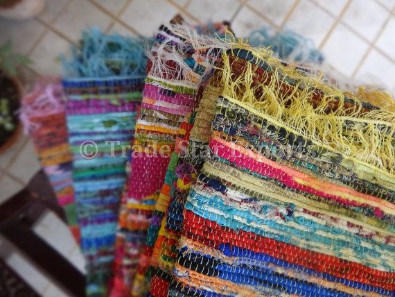 Set Of 10 Handmade Rag Rug Wholesale Lot Of Durrie Carpet Multi