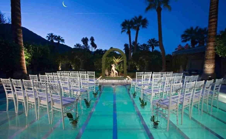 Outdoor Wedding Reception Ideas For Summer | Pool wedding ...