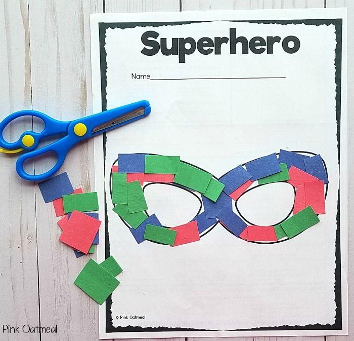 Superhero Activities - Fine Motor and Gross Motor Planning Ideas #superherocrafts